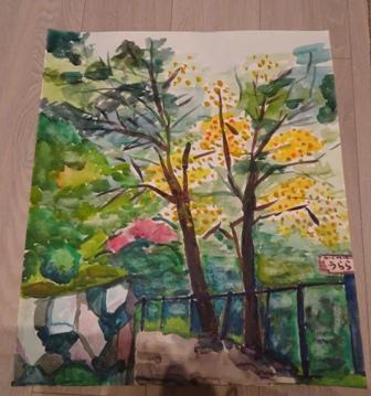 カキの木の画.JPG