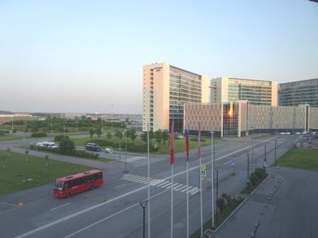 サントスベルグのホテルの日の出.JPG