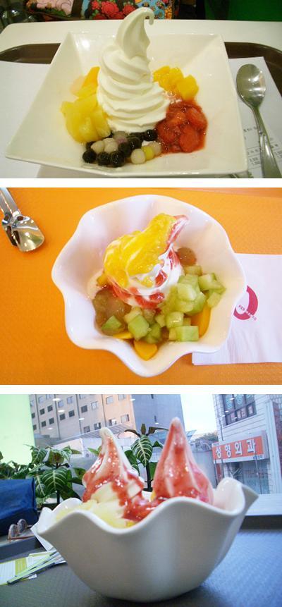 韓国のソフトクリーム
